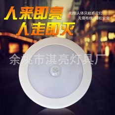 Hình ảnh Cool Portable 6 LED Wireless Motion Sensor Night Light Battery-Powered With Sticker1 Pack - intl