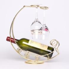 Hình ảnh Sáng tạo Kim Loại Thời Trang Giá Để Rượu Vang Treo Rượu Thủy Tinh Giá Đỡ Con Tàu Cướp Biển Hình Thanh Đế Giữ Rượu-quốc tế