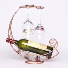 Hình ảnh Sáng tạo Kim Loại Thời Trang Giá To Treo Rượu Thủy Tinh Giá Đỡ Con Tàu Cướp Biển Hình Thành đế Giữ Rượu-quốc tế