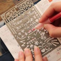 Mua Sáng tạo Văn Phòng Phẩm Đa chức năng Thư Số Vẽ Hình Graffiti Bản Mẫu Thước Học Vật Dụng Văn Phòng-quốc tế