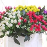 Cssical 36 Đầu Hoa Mẫu Đơn Hoa Cẩm Tú Cầu Lụa Hoa Trắng Trang Trí Lễ Cưới, Cô Dâu Hoa Màu Vàng-quốc tế