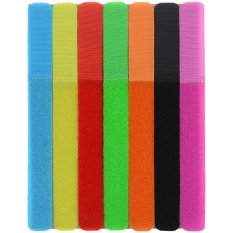 CT-01 Velcro Tape Wires Cables Cords Management Organizer - Multi-Colored (7PCS) - intl