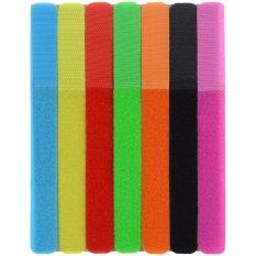 Hình ảnh CT-01 Velcro Tape Wires Cables Cords Management Organizer - Multi-Colored (7PCS) - intl