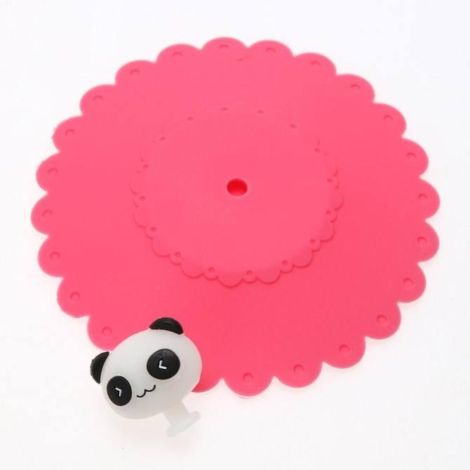 ... Cute Anti-dust Silicone Glass Cup Cover Coffee Seal Lid Cap (Panda) ...