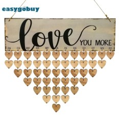 Mua Cute Love Theme Calendar Wooden Board Family Special Dates Sign Decor Gifts - intl