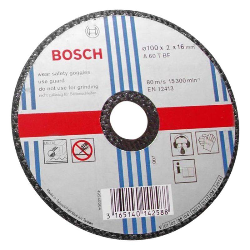 Đá cắt sắt Bosch 2608600267 100x2x16mm (Đen)