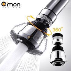 Hình ảnh Đầu vòi tăng áp điều hướng 360 độ với 2 chế độ nước C'MON (Bạc)