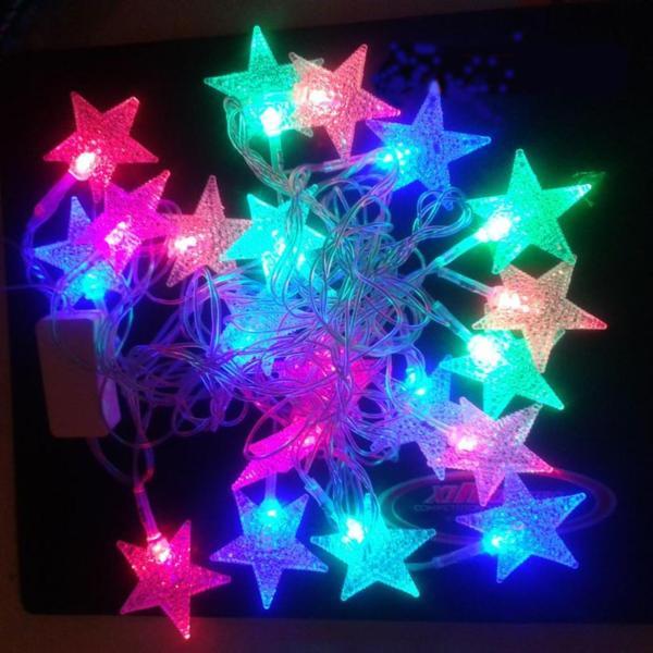 Dây đèn trang trí hình sao nhiều màu