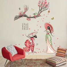 Decal dán tường kiệt tác kimono Nhật Bản JM7331
