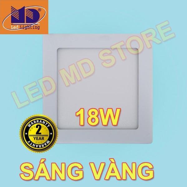 Đèn Led Âm Trần 18W  siêu mỏng vuông ánh sáng vàng Φ200 - MD02
