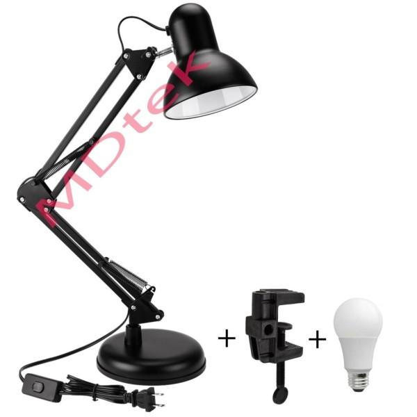 Đèn bàn học tập, làm việc có chân kẹp bàn tiện lợi Pixar MT-322 + Tặng 1 bóng LED 7w vàng