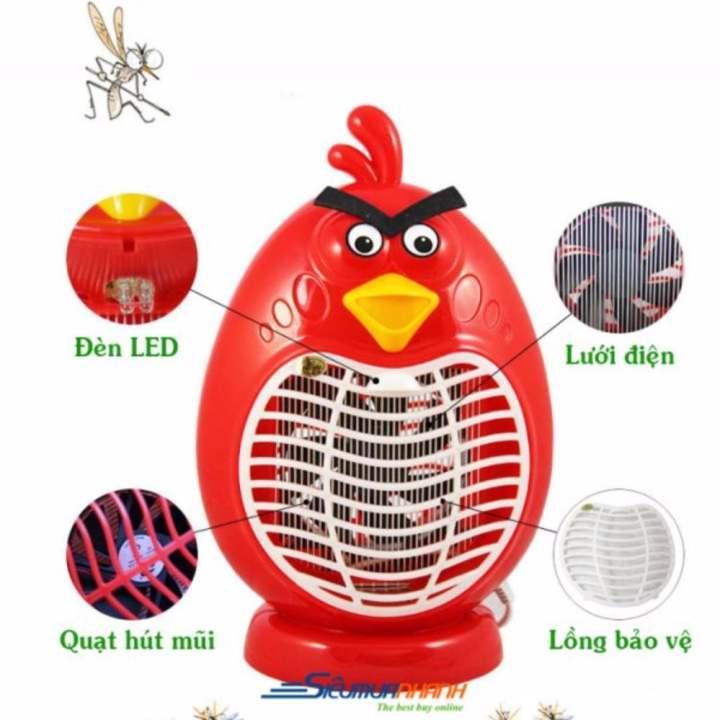 Đèn bắt Muỗi kiêm đèn ngủ hình Angry Bird ( Đỏ )