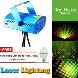 Bán Đen Chiếu Laser Mini San Khấu Vũ Trường Jp03 Tặng Đen Led Xoay 7 Mau Nguyên
