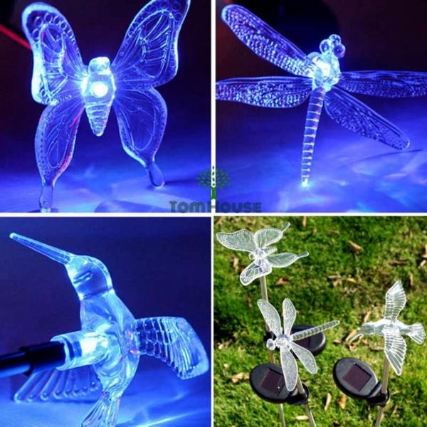 Đèn chiếu sáng trang trí sân vườn năng lượng mặt trời con bướm