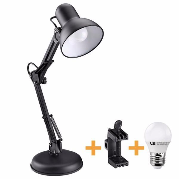 Đèn để bàn học tập, làm việc (có chân kẹp bàn) Pixar MT-322 + Tặng 1 bóng LED 7W