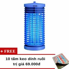 Đèn diệt côn trùng DS-D6 (Xanh) + Tặng 10 miếng keo dính ruồi Việt Nam