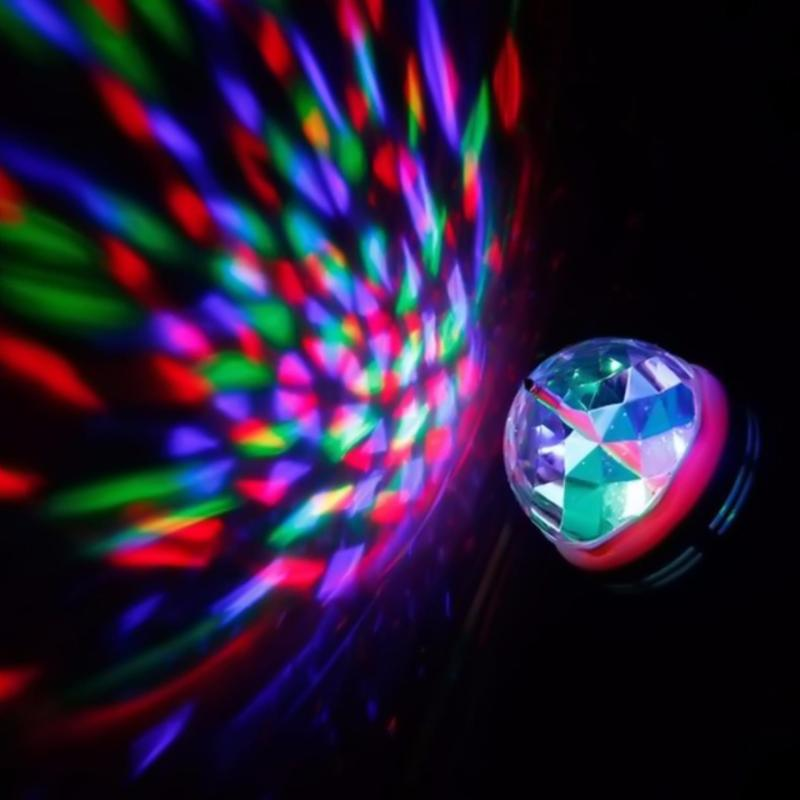 Đèn Led 7 màu trang trí cầu xoay nhỏ