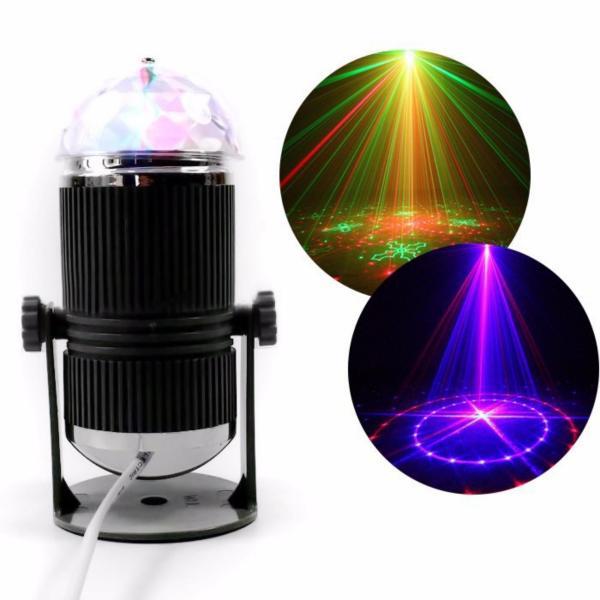 Đèn Led cảm biến nhạc xoay đa sắc thân tròn DLTR01