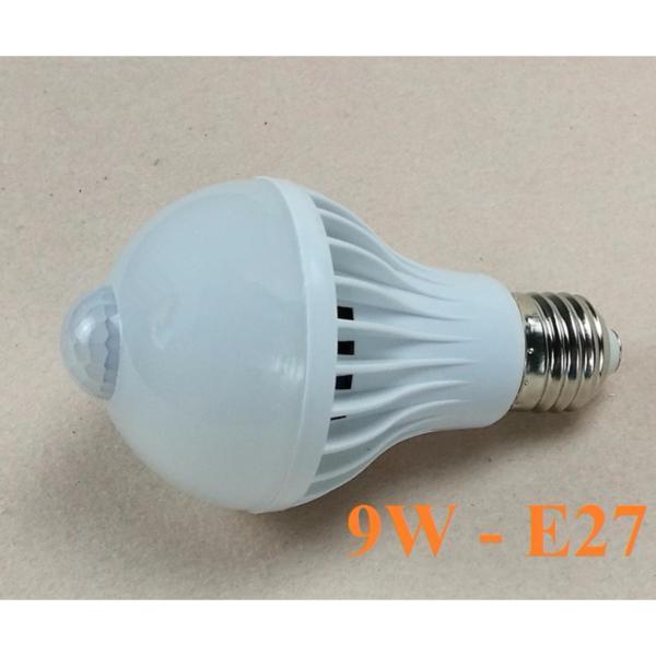 Đèn LED cảm ứng hồng ngoại 9W Trắng- LED SHOP