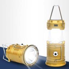 Đèn LED năng lượng mặt trời 3 trong 1 (Vàng)
