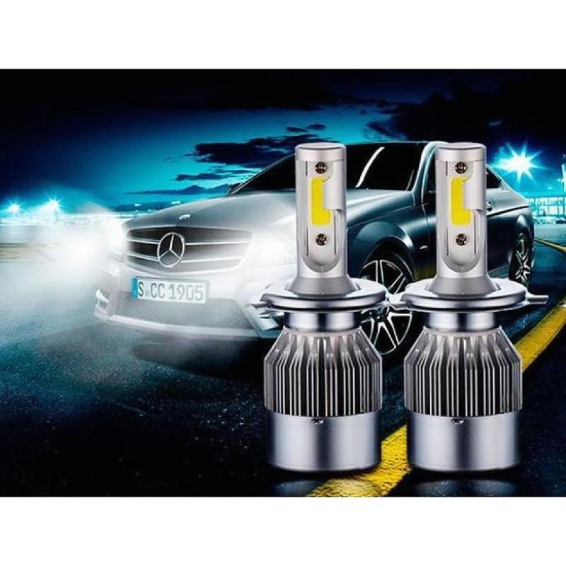 Bảng giá Đèn led ô tô Headlight C6 H4 - 3800lm - 6000k ánh sáng trắng Cao cấp (2 bóng)