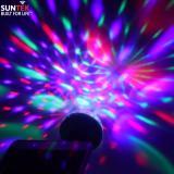 Đèn LED SUNTEK chiếu vũ trường mini cầm tay cảm ứng âm thanh(Xanh)
