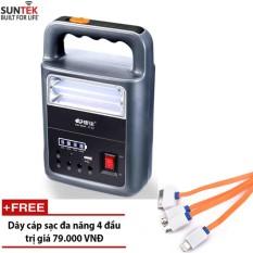 Hình ảnh Đèn LED tích điện chuyên dụng kiêm ắc quy sạc dự phòng SUNTEK KM-926A + Tặng cáp sạc đa năng