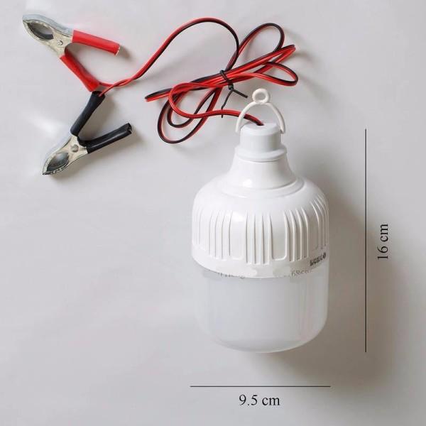Đèn Led Trụ 50W kín nước kẹp bình ắc quy 12V
