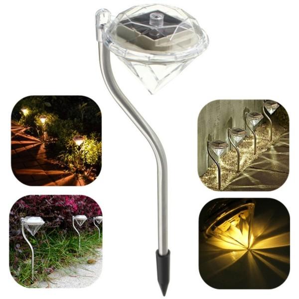 Đèn năng lượng mặt trời sân vườn kim cương