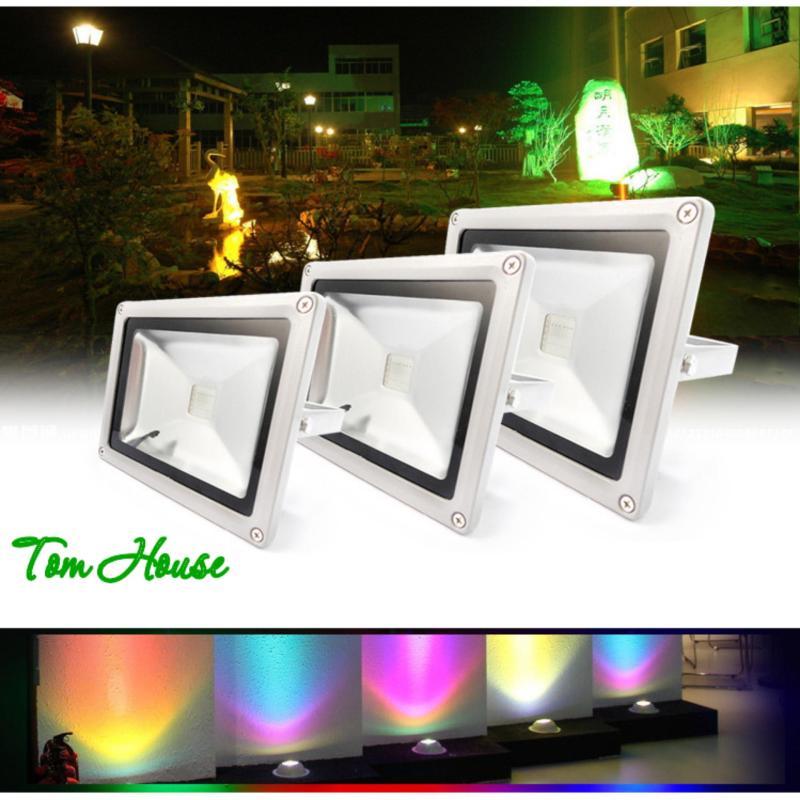 Đèn pha chiếu sáng ngoài trời 16 màu RGB LED công suất 10W LPDM10 ( có điều khiển từ xa )