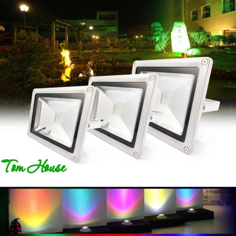 Đèn pha chiếu sáng ngoài trời 16 màu RGB LED công suất 20W LPDM20 ( có điều khiển từ xa )