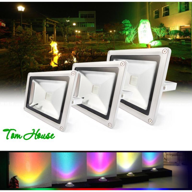 Đèn pha chiếu sáng ngoài trời 16 màu RGB LED công suất  30W LPDM30 ( có điều khiển từ xa )