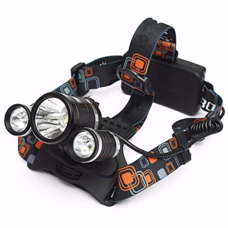 Đèn Pin Đội Đầu 3 Bóng Led Siêu Sáng kèm dây sạc