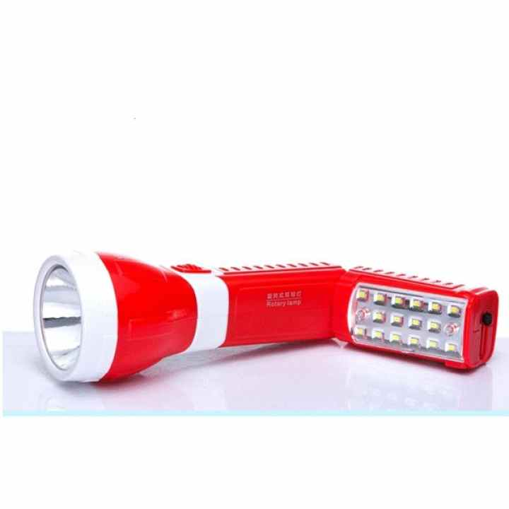 Đèn Pin sạc LED đa năng 2 trong 1 KM-8730 (Đỏ)
