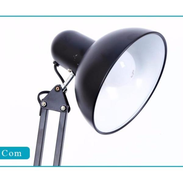Đèn Pixar, Đèn Để Bàn, Đèn Kẹp Kỹ Sư - Loại Dài (Đen) - Tặng kèm bóng đèn LED ánh sáng Trắng