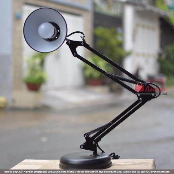 Đèn Pixar, Đèn Để Bàn, Đèn Kẹp Kỹ Sư - Loại Ngắn (Đen) - Tặng kèm bóng đèn LED ánh sáng Trắng