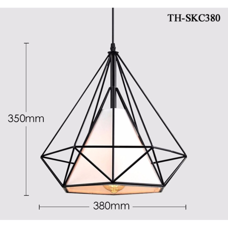 Đèn thả kim cương khung sắt TH-SKC380