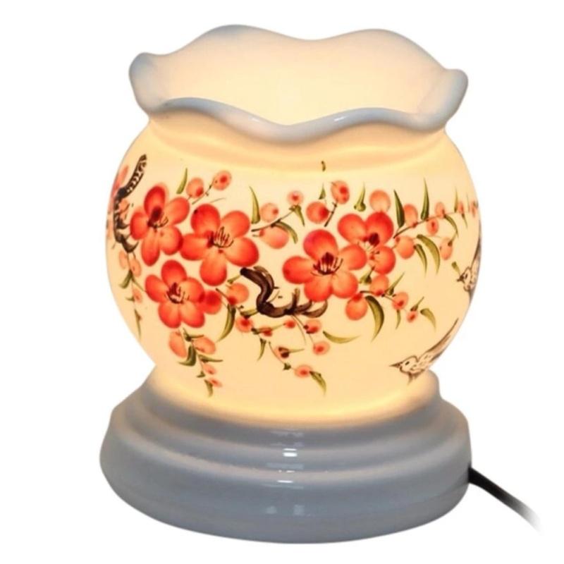 Đen xông tinh dầu gốm sứ thấu quang Bát Tràng
