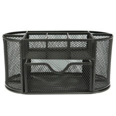 Mua Desk Organizer 9 cells Metal Black Mesh Desktop Office Pen  ( Black )   -  intl ( Đen )