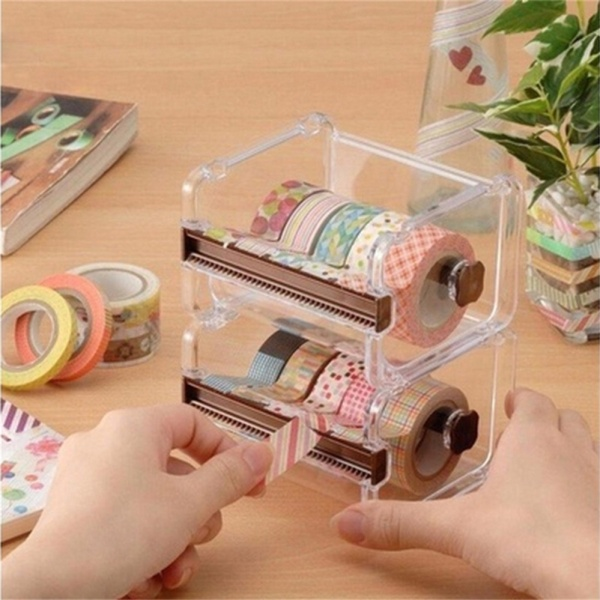 Mua Desktop Tape Dispenser Tape Cutter Washi Tape Dispenser Roll Tape Holder Green - intl