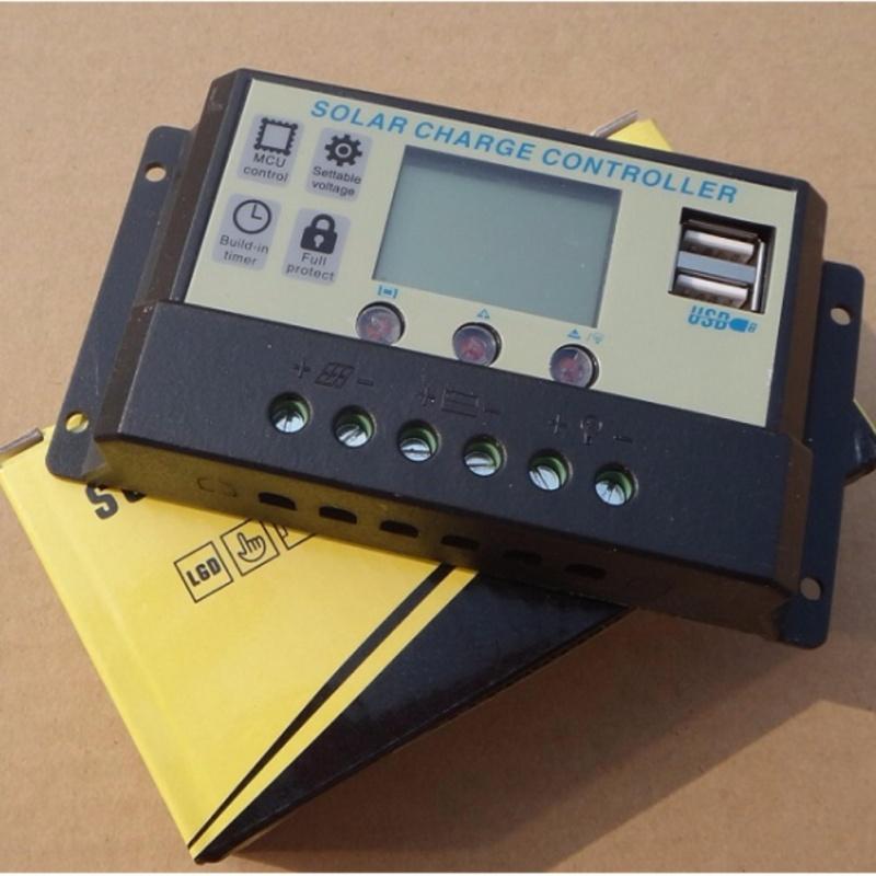 ĐIỀU KHIỂN SẠC PWM 1024A CÓ LCD + 01 cặp kẹp bình