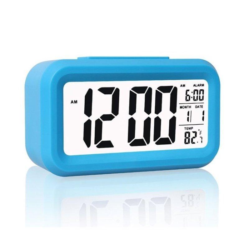 Đồng Hồ Báo Thức kỹ thuật số với Cảm Biến Ánh Sáng. Ngày và TemperatureDisplay. Báo lại-Hoạt Động Bằng Pin Đèn Led Đồng Hồ Báo Thức Du Lịch. DeskClock (Xanh Dương)-quốc tế bán chạy