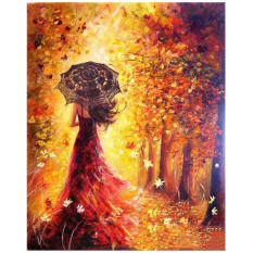 Digital DIY Beautiful Girl Oil Painting Coloring By Numbers On Linen Canvas Wall Art Decoration 40 x 50cm - intl
