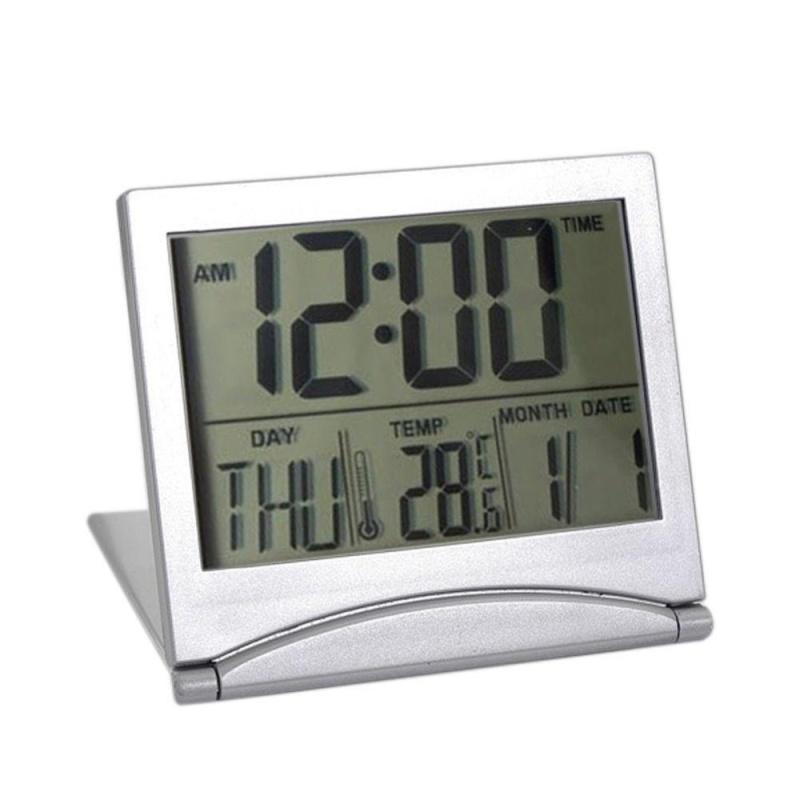 Đồng Hồ Báo Thức Kỹ Thuật Số MÀN HÌNH LCD To Bàn-Có Thể Báo Thời Tiết And Nhiệt Độ Khí du Lịch-Quốc Tế bán chạy