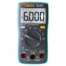 Vạn Năng kỹ thuật số 6000 Tính Đèn Nền AC/DC Ampe Kế Vôn Kế Ohm Mét (Màu Xanh Dương)-quốc tế