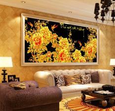 DLH-222564-Tranh thêu phú quý cát tường hoa mẫu đơn-136.56