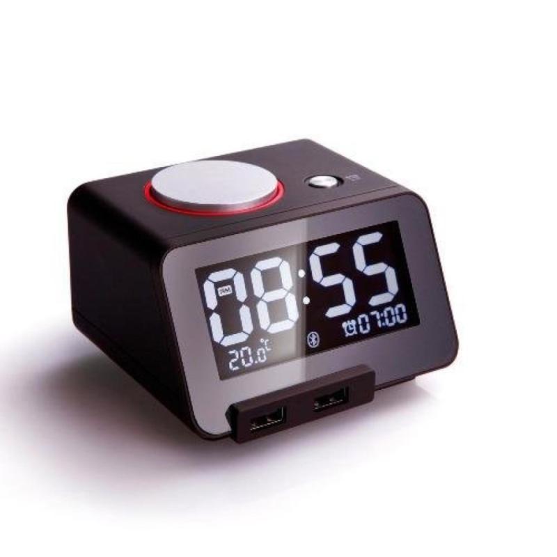 Đồng hồ báo thức kiêm Loa Bluetooth không dây Homtime và bộ sạc điện thoại, máy tính bảng 3 in 1 - C1 Pro (Đen) bán chạy