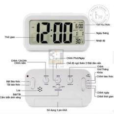 Đồng hồ báo thức kỹ thuật số đèn LED cảm biến đa chức năng thanh khang 010000002 trang