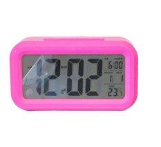Nơi bán Đồng hồ báo thức kỹ thuật số với đèn LED nền cảm biến đa chức năng LC01 (Hồng) 1000000192