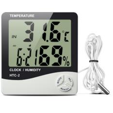 Đồng hồ đo nhiệt độ và độ ẩm HTC 2 + Tặng 1 Móc khóa da K 550